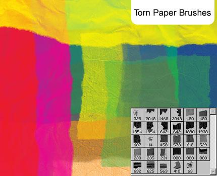 Torn Paper brush set